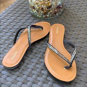 Aldo dressy flip flops with bling - size 8.5